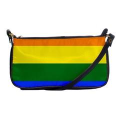 Pride Rainbow Flag Shoulder Clutch Bags by Valentinaart