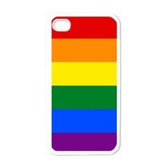 Pride Rainbow Flag Apple Iphone 4 Case (white) by Valentinaart