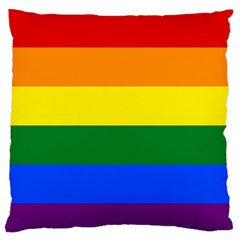 Pride Rainbow Flag Standard Flano Cushion Case (one Side) by Valentinaart