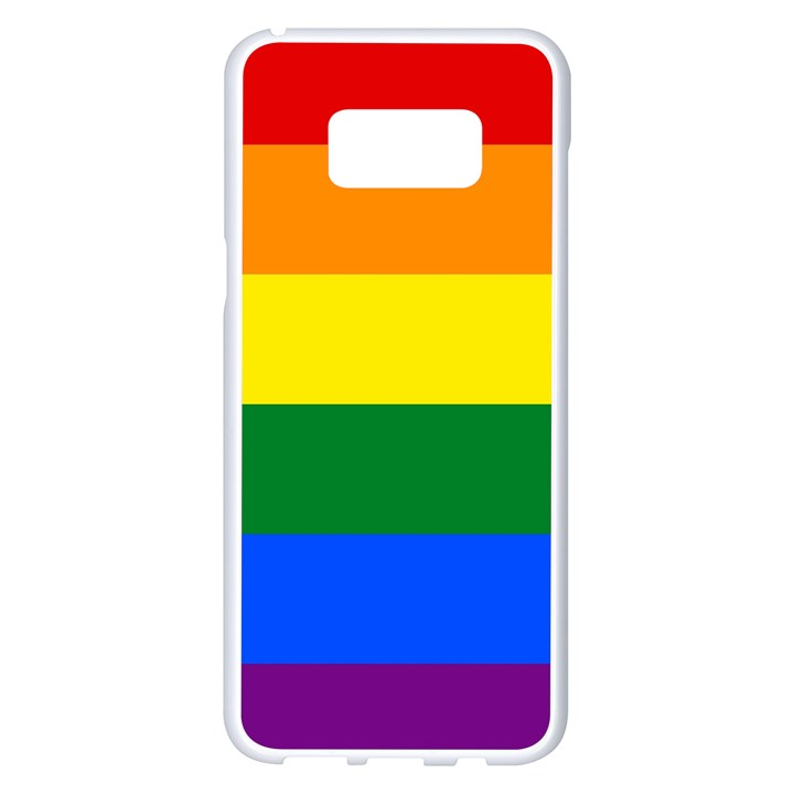 Pride rainbow flag Samsung Galaxy S8 Plus White Seamless Case