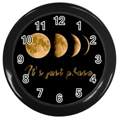 Moon Phases  Wall Clocks (black) by Valentinaart