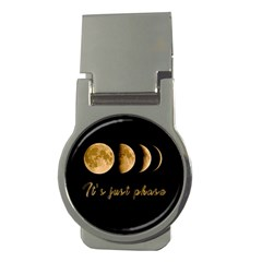 Moon Phases  Money Clips (round)  by Valentinaart