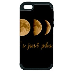 Moon Phases  Apple Iphone 5 Hardshell Case (pc+silicone) by Valentinaart