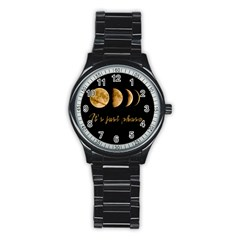 Moon Phases  Stainless Steel Round Watch by Valentinaart