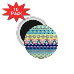 Tribal Print 1 75  Magnets (10 Pack)