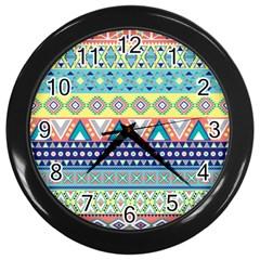 Tribal Print Wall Clocks (black)