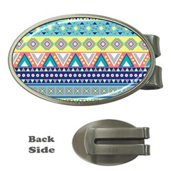 Tribal Print Money Clips (Oval)