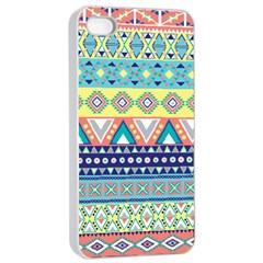 Tribal Print Apple Iphone 4/4s Seamless Case (white) by BangZart