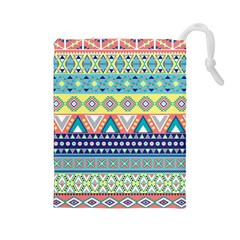 Tribal Print Drawstring Pouches (large)  by BangZart