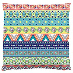 Tribal Print Large Flano Cushion Case (two Sides) by BangZart