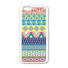 Tribal Print Apple Iphone 6/6s White Enamel Case