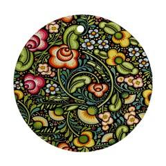 Bohemia Floral Pattern Ornament (round)