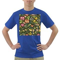 Bohemia Floral Pattern Dark T Shirt by BangZart