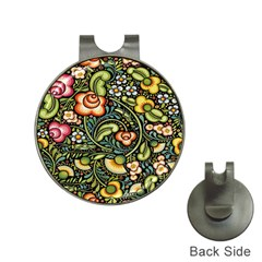 Bohemia Floral Pattern Hat Clips With Golf Markers