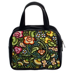 Bohemia Floral Pattern Classic Handbags (2 Sides) by BangZart