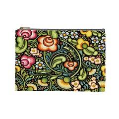 Bohemia Floral Pattern Cosmetic Bag (large)