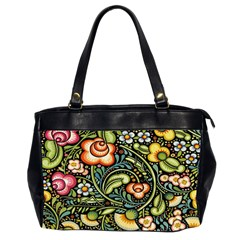 Bohemia Floral Pattern Office Handbags (2 Sides)  by BangZart