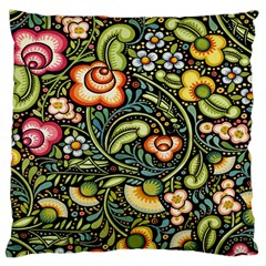 Bohemia Floral Pattern Large Cushion Case (two Sides) by BangZart