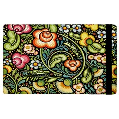 Bohemia Floral Pattern Apple Ipad 2 Flip Case by BangZart