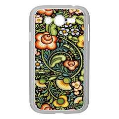 Bohemia Floral Pattern Samsung Galaxy Grand Duos I9082 Case (white)