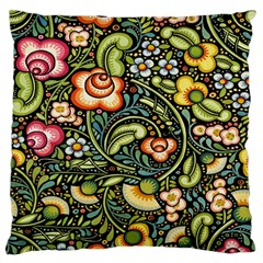 Bohemia Floral Pattern Standard Flano Cushion Case (two Sides)