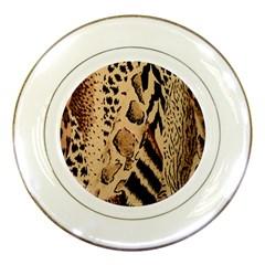 Animal Fabric Patterns Porcelain Plates by BangZart