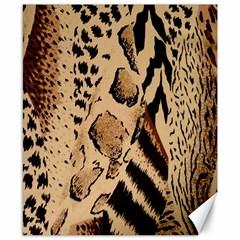Animal Fabric Patterns Canvas 8  X 10  by BangZart