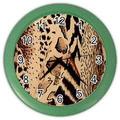 Animal Fabric Patterns Color Wall Clocks