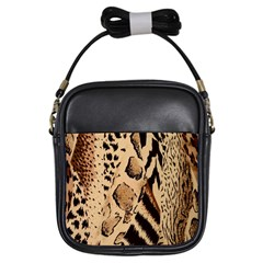 Animal Fabric Patterns Girls Sling Bags by BangZart