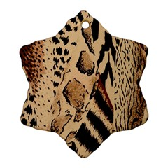 Animal Fabric Patterns Ornament (snowflake)