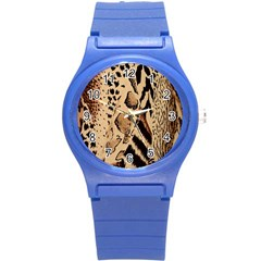 Animal Fabric Patterns Round Plastic Sport Watch (s) by BangZart