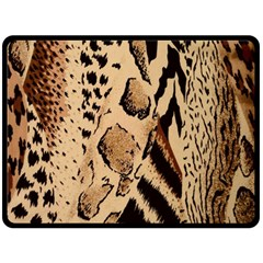 Animal Fabric Patterns Double Sided Fleece Blanket (large)  by BangZart