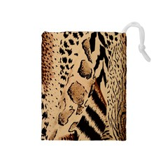 Animal Fabric Patterns Drawstring Pouches (medium)