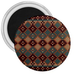 Knitted Pattern 3  Magnets by BangZart