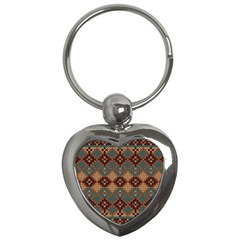 Knitted Pattern Key Chains (heart)