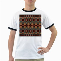Knitted Pattern Ringer T Shirts