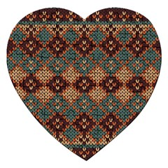 Knitted Pattern Jigsaw Puzzle (heart) by BangZart