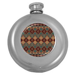 Knitted Pattern Round Hip Flask (5 Oz)