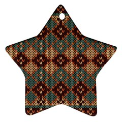 Knitted Pattern Star Ornament (two Sides)