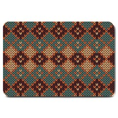 Knitted Pattern Large Doormat  by BangZart