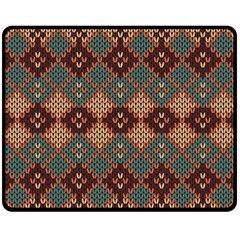 Knitted Pattern Fleece Blanket (medium)