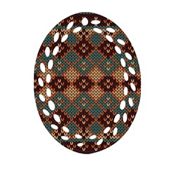 Knitted Pattern Oval Filigree Ornament (two Sides) by BangZart