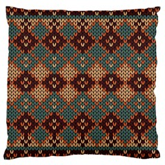 Knitted Pattern Large Cushion Case (two Sides) by BangZart