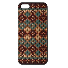 Knitted Pattern Apple Iphone 5 Seamless Case (black)