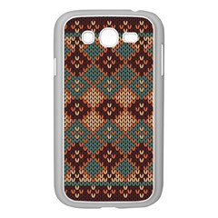 Knitted Pattern Samsung Galaxy Grand Duos I9082 Case (white)
