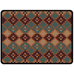 Knitted Pattern Double Sided Fleece Blanket (large)  by BangZart