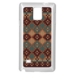 Knitted Pattern Samsung Galaxy Note 4 Case (white)