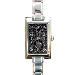 Spider Web Wallpaper 14 Rectangle Italian Charm Watch by BangZart