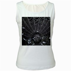 Spider Web Wallpaper 14 Women s White Tank Top