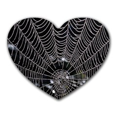 Spider Web Wallpaper 14 Heart Mousepads by BangZart